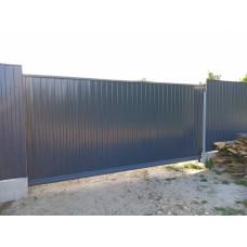 Откатные ворота ОВ12