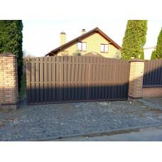 Откатные ворота ОВ9