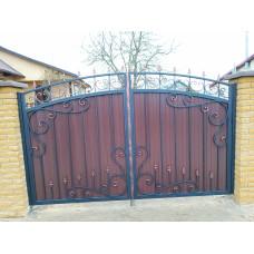 Кованые распашные ворота ВР2